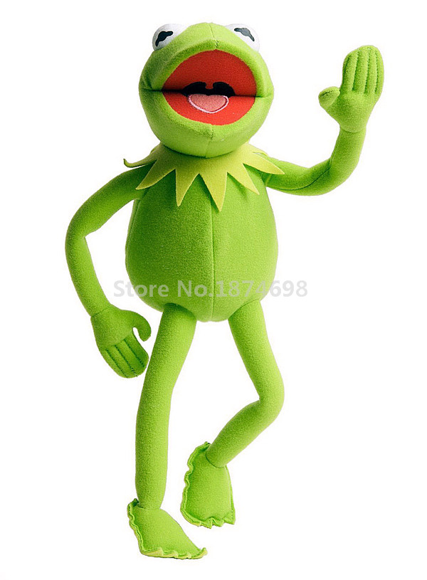 New The Muppets Bendable Kermit The Frog Plush Toy 45cm Cute Stuffed Animals Soft Kids Toys For Boys Children Gifts