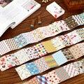 48 дневник альбом серии стикер SouthKorea канцелярские подарок прекрасный геометрические узоры спичечных коробков бумаги в самоуплотняющаяся наклейки