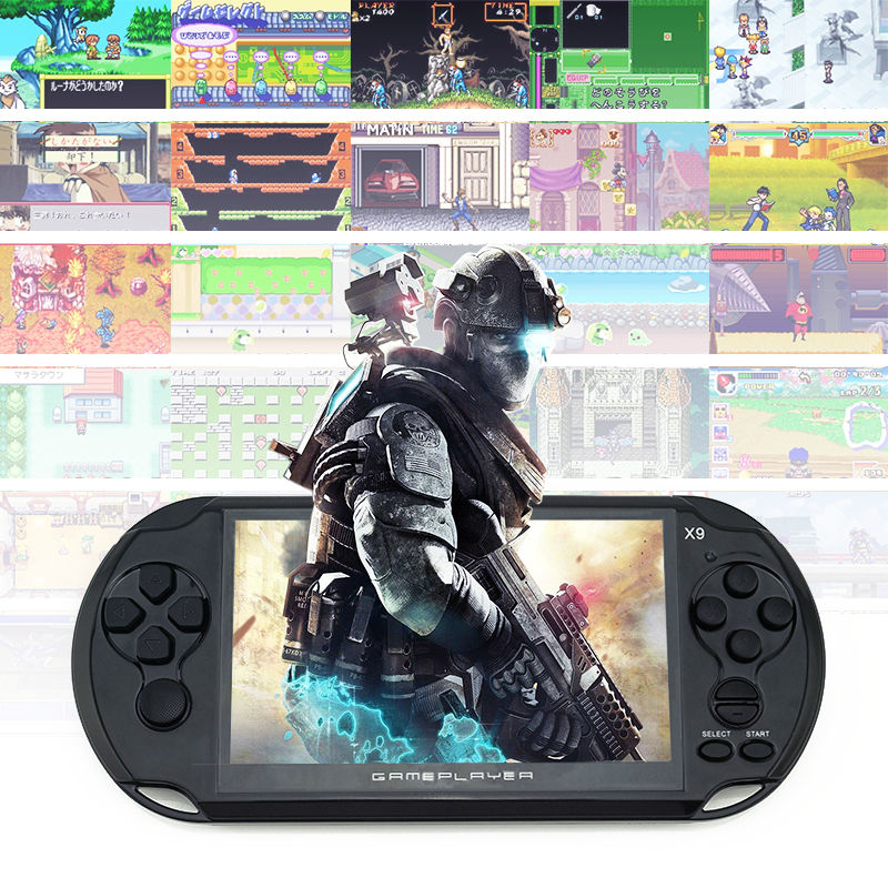 Hot sale! Handheld Game For GBA Games Consoles Built-in 3000 Classic NES Games MP5 Child Game Console With 5.0″ Screen 8GB Porta