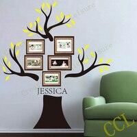 Grande Família Tree Decalque em Parede-Personalizado com o nome de família-190x180 cm família quadro da foto da árvore de parede etiqueta moderna decoração da casa