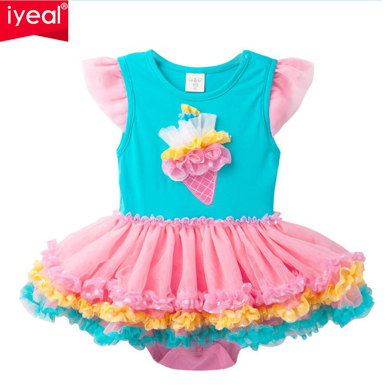 IYEAL Cute Baby Toddler Girl Princess Romper Ruffle Tutu Dresses Party Costume Bebe Newborn Birthday Outfit for 0-2 years baby girl infant 3pcs clothing sets tutu romper dress jumpersuit one or two yrs old bebe party birthday suit costumes vestidos