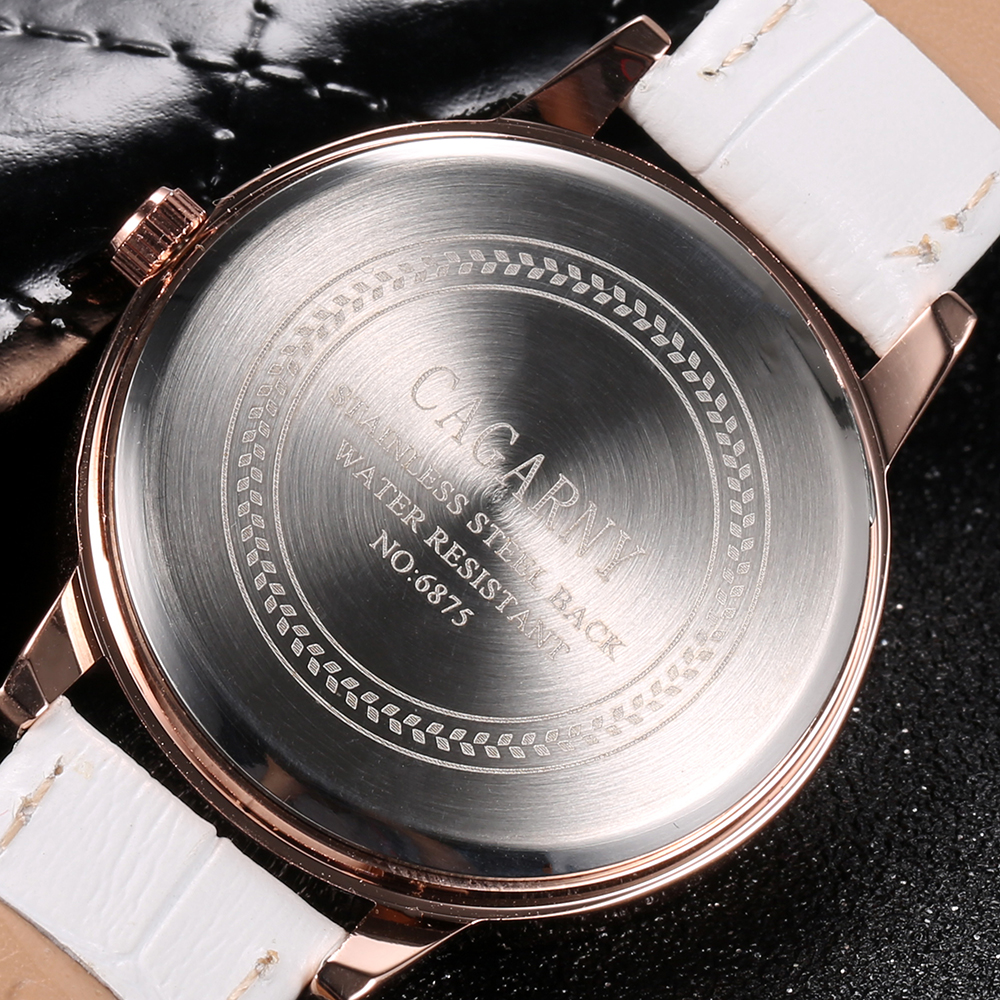 luxury brand cagarny quartz watch for women blue sky dials creative casual ladies watches rose gold case drop shipping (36)