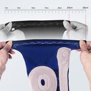 Image 3 - Moeite waard Elastische Silicon Padded Basketbal Kniebeschermers Ondersteuning Patella Brace Kneepad voor Fitness Gear Volleybal Sport Protector