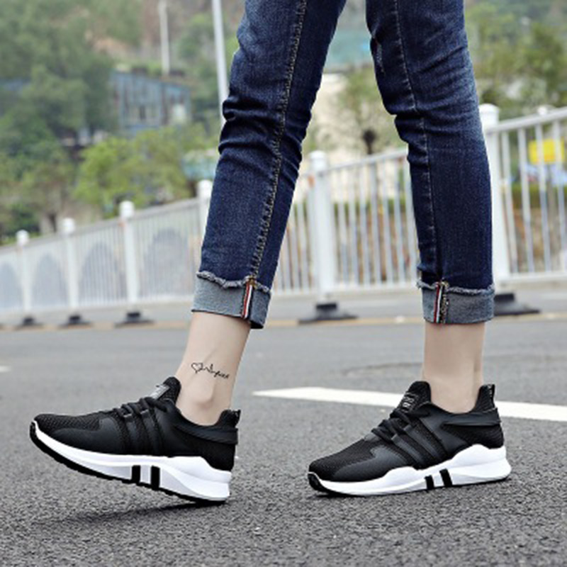 2018 white pink air mesh student casual flat breathable lace up outdoor women shoes lightweight woman sneakers shoes instantarts fancy flamingos women flat sneakers comfortable spring woman casual lace up flats air mesh breathable students shoes