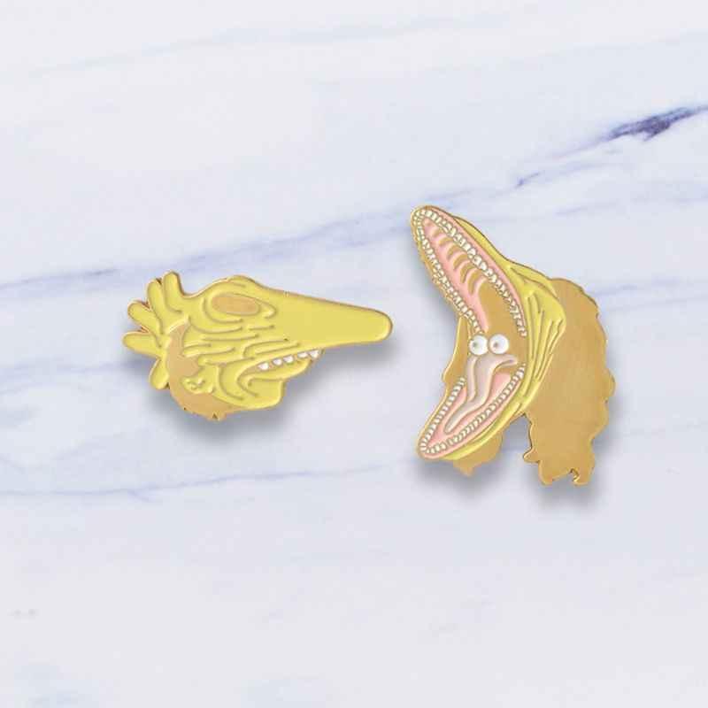 漫画ブローチ恐竜服バッジファッション創造的なギフト女性男性ジャケットジーンズピンジュエリーピン服エナメルデニムラペル