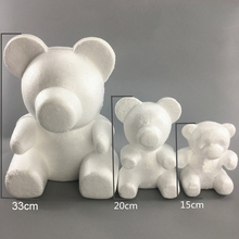 1PC 15cm/20cm/35cm Foam Rose Bear Mold DIY TOY Artificial Flower Plastic Roses Luck Dog Model