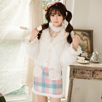 Princess Sweet Lolita Jacket Candy Rain Slim Female Winter Short Japanese Sweet Soft Sister All Match