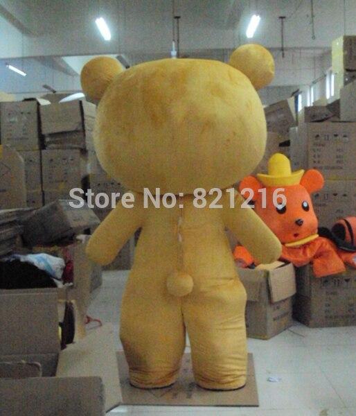 Легко медведь мультфильм кукла плюшевый медведь мультфильм костюм show Маскоты для Хэллоуин костюмы для праздников
