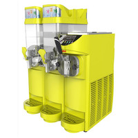 220V Commercial Two Tank Slush Machine Ice Cream Machine For Cafeteria Coffee Shop Restaurant Commercial Business