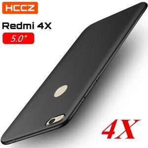 HCCZ Redmi 4X Matte Pure Color Soft Silicone Case for Xiaomi Redmi 4X Ultra-light Non-slip Protective Case Cover High Quality