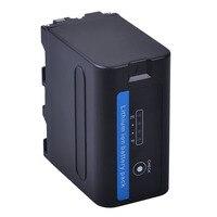1PC 7200mAh NP F960 NP F970 Battery with LED Power Indicators for SONY F960 F550 F570 F750 F770 MC1500C 190P 198P F950 HD1000C