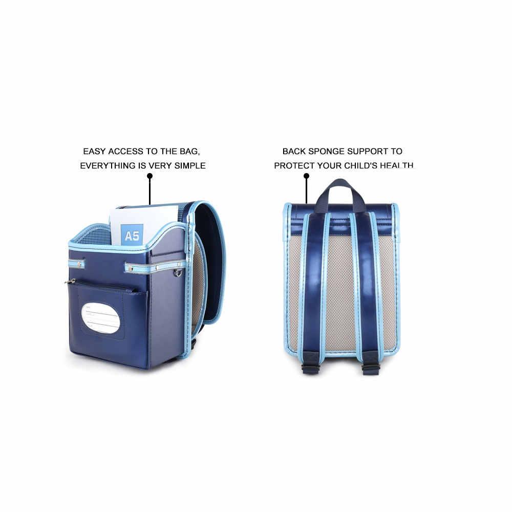 Coulomb малыш ортопедический рюкзак для маленьких мальчиков школьные ранцы Японии PU Randoseru портфель мальчиков Kinderrucksack