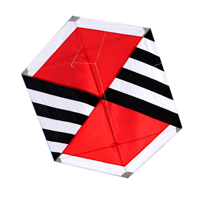 Out Door Fun Sport 130cm Power Single Line Diamond Kite / Ripstop Nylon Kites With Flying Tools Beach kite flying 16 colors x vented outdoor playing quad line stunt kite 4 lines beach flying sport kite with 25m line 2pcs handles