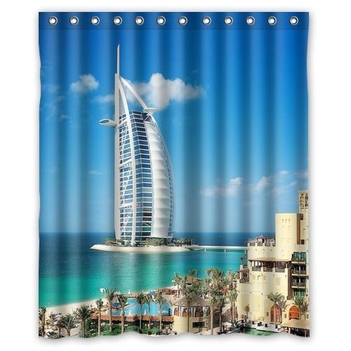High Quality Polyester Bath Curtains Printed Dubai