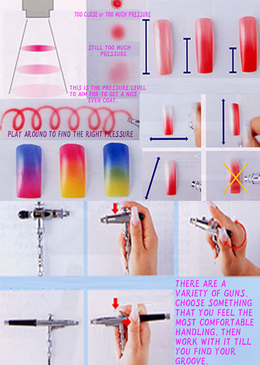 Colopaint Nail Art Airbrush Stencil Templates Nail Decorations Set
