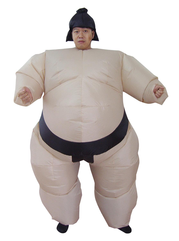 Halloween Nadmuchiwane Sumo Suits Zapaśnik Kostiumy Stroje Fat Man - Kostiumy - Zdjęcie 4