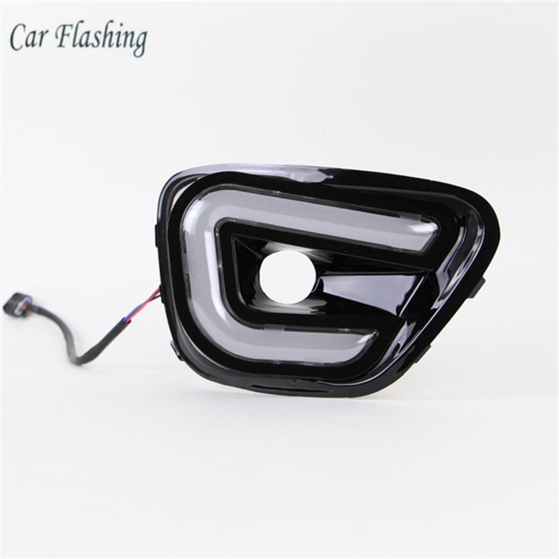 Car Flashing 1pair For Jeep Compass 2011 2016 LED DRL Daytime Running Light Daylight Waterproof yellow
