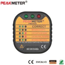 Official PEAKMETER PM6860 series Socket Tester 110v/220V Automatic electricity diagnostic detector tester