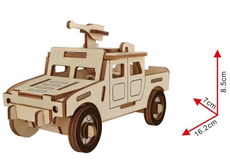 Моделирование Humvee джип игрушка модель 3d трехмерные деревянные головоломки игрушки для детей Diy ручной работы деревянные пазлы