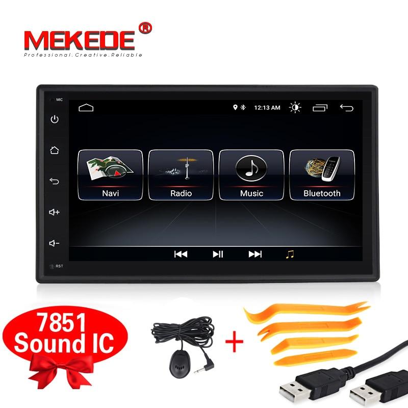 ЕС Tax Free Android8.1 4 ядра 2Din автомобильный dvd gps навигатор для Nissan Toyota peugeot KIA с 4G Wi Fi Радио BT Бесплатная доставка
