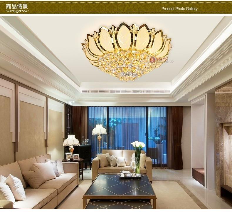 Lotus Modern lamparas Gold 4