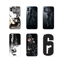 For Samsung Galaxy S3 S4 S5 Mini S6 S7 Edge S8 S9 S10 Lite Plus Note 4 5 8 9 Cell Phone Cases Cover rainbow six siege characters(China)