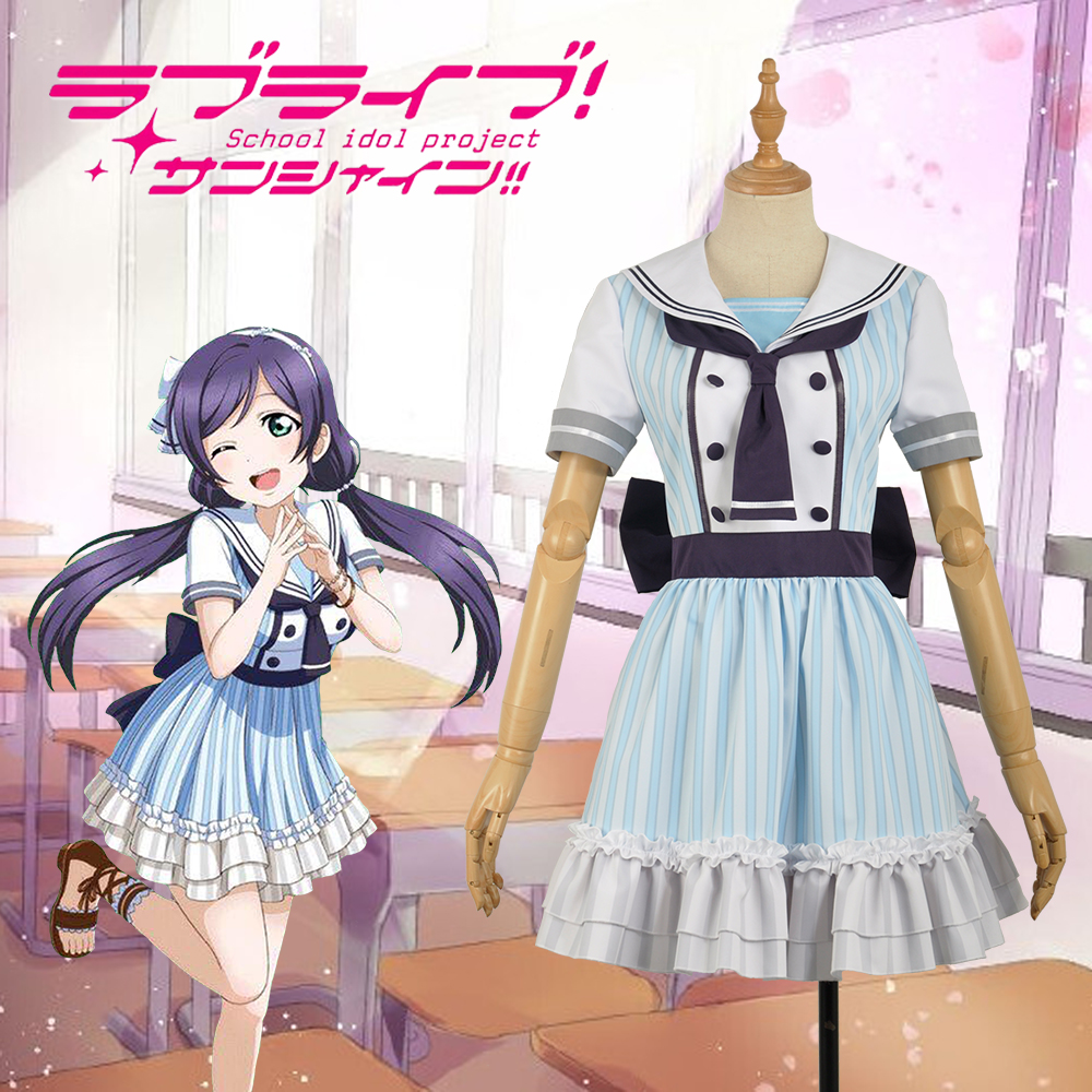 Love Live! Nozomi Tojo  Pirate Unawakened School Uniform Dress Cosplay Costume Adult Women Outfit Clothing Dress For Cos W1255-2