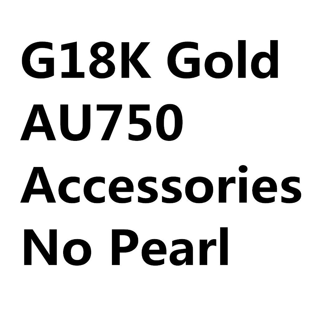 G18K Gouden Sieraden, AU750, Oorbellen Parel Accessoires, Oorhaak, Voor Vrouwen, Sieraden Bevindingen, DIY - 3