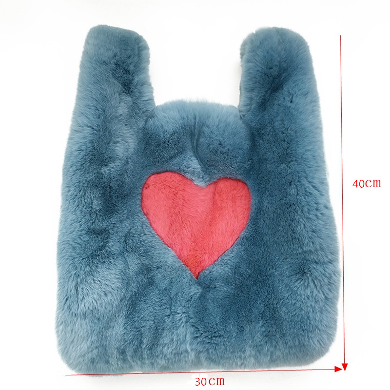 dac1f61e650 Fur bag women Luxury Designer Evening party Bag Famous Brand handbag Ladies  heart Clutch Bag blue white black