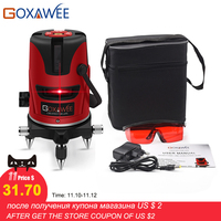 Laser Level 360 Degrees Rotary 5 Laser Line 6 Points Vertical & Horizontal 3D Laser Level Leveling With Outdoor Mode
