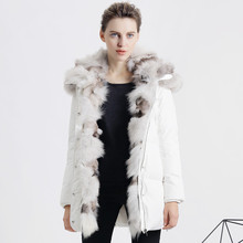 Luxury Large Real For Fur Parka For Women Winter Brand Thicking Short Slim Womens Down Jackets 2016 Warm Coat Women