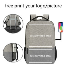 Backpack male college student simple female fashion campus laptop backpack custom printed LOGO picture print customized