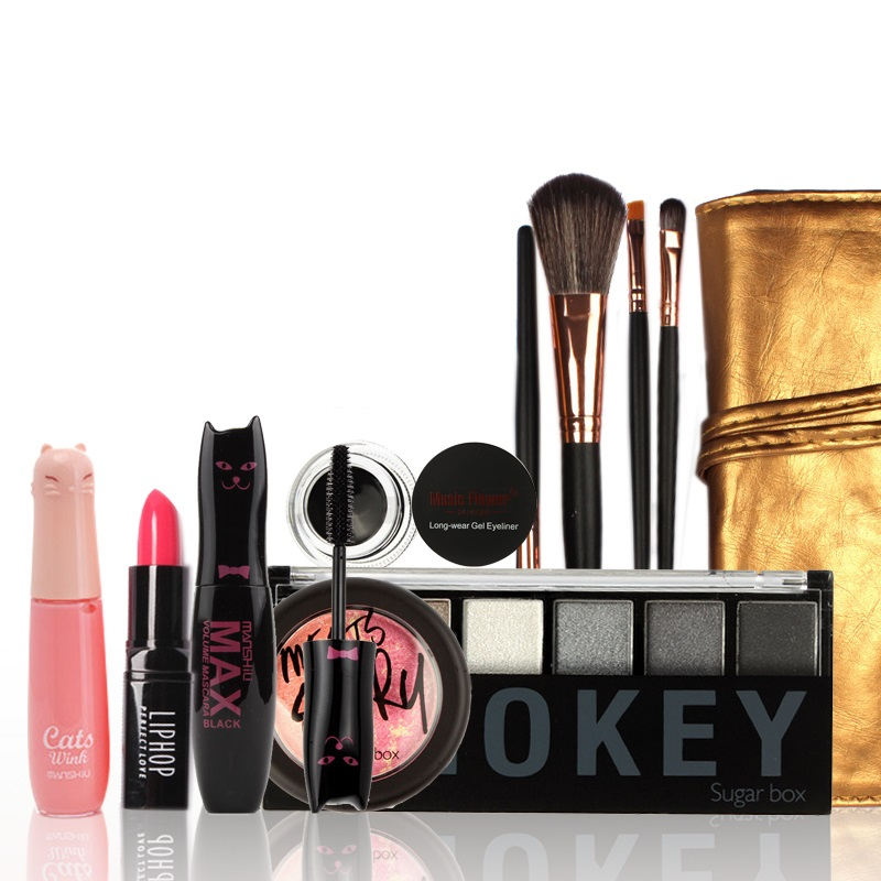 NEW  Professional Lighted Lipgloss Waterproof Lip Gloss Makeup Cosmetics Gift Set Tool Kit Makeup Gift long lasting  natural