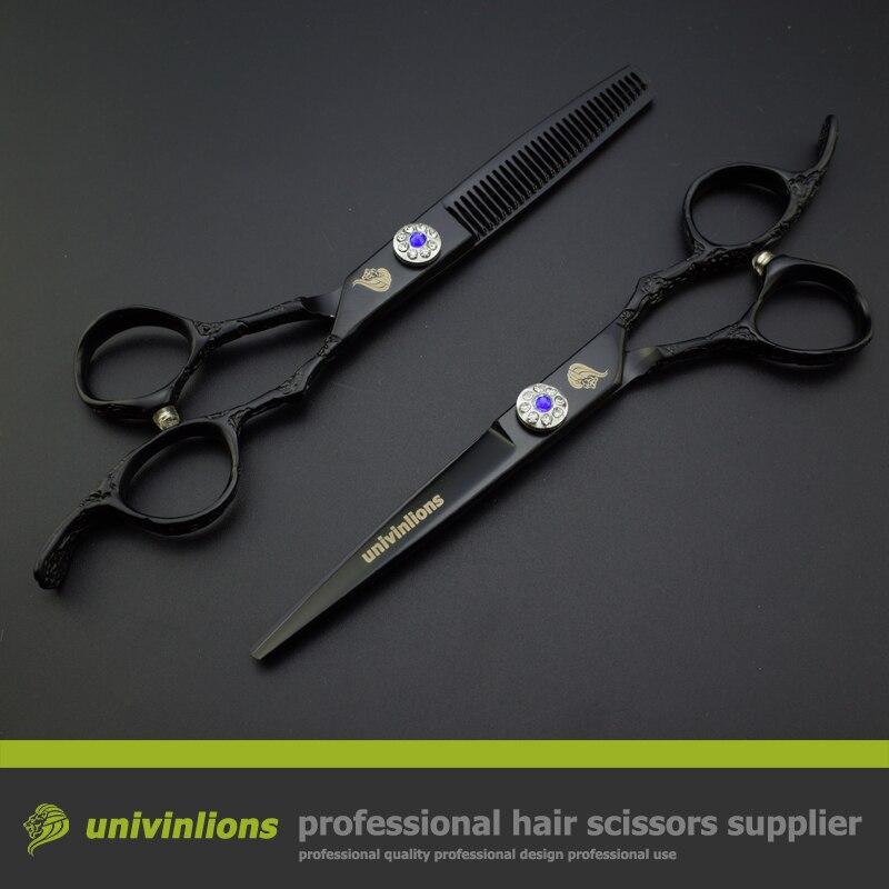 6 Quot Black Engraved Professional Japan Hair Scissors