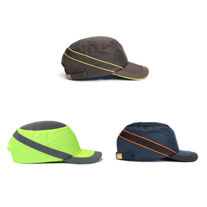 Image 4 - Fashion Sunscreen Cap Work Safety Helmet Breathable Anti impact Light Weight Construction Helmet Self Defense Weapons