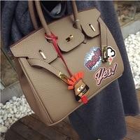 Large Capacity Platinum Bag Funny Graffiti Printing Lady Causal Handbags Fashion Design Women Brand Lock Shoulder