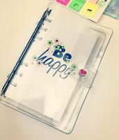 Notebook Planejador A5 A6 PP PVC Transparente Flor Tampa Botão Coração Espiral Fichário Folha Solta Folha Shell Material Escolar Escritório