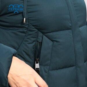 Image 5 - CEPRASK 2020 nowa pogrubienie kurtka zimowa kobiety Parka Plus rozmiar 6XL długi modny damski płaszcz zimowy z kapturem ciepła ocieplana kurtka