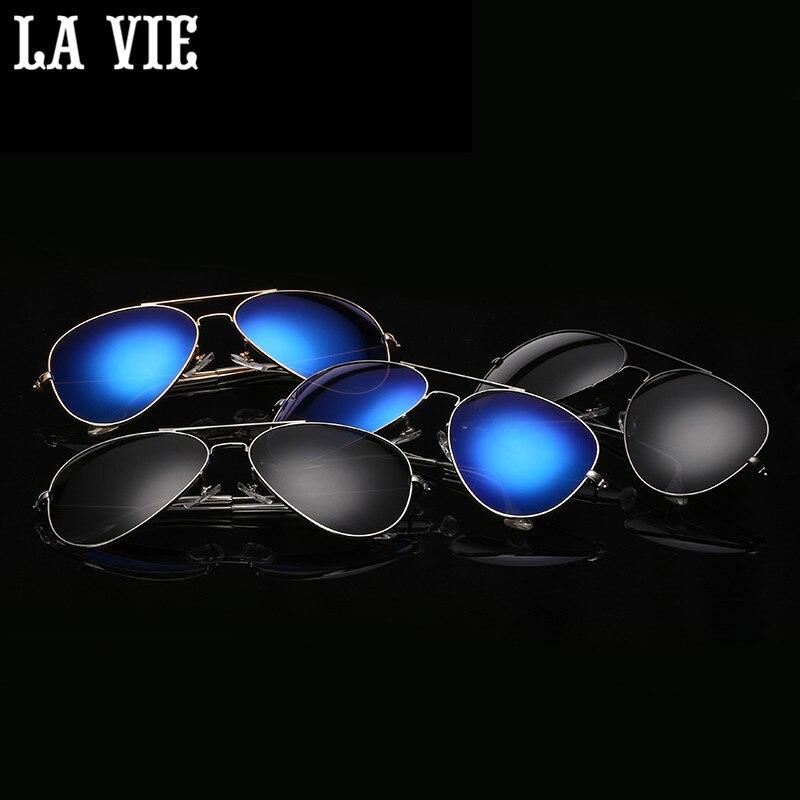 LA VIE Polarizované sluneční brýle Zrcadlové potahové brýle Sluneční brýle z lehkých slitin Pilotní design klasický design LV3025