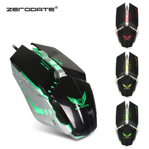 Image 2 - ZERODATE Wired Gaming Mouse 8 Macro Programmable Buttons Adjustable 3200DPI with Respiration LED Light Mouse PC Laptop