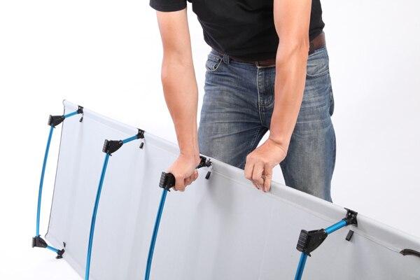 ultraleve dobrável cama peso limite de medida