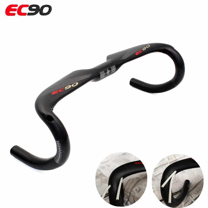 EC90-Manillar de bicicleta de carbono 2019, manillar de bicicleta de carretera completo con eje para juego UD, manillar de carbono mate, envío gratuito