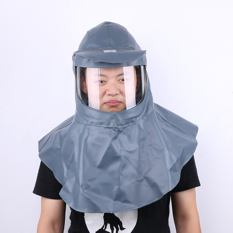 Painting Protective Mask Anti-Acid And Alkali Sandblasting Caps Dustproof Hood Labor Helmet Industrial Grinding Safety Mask