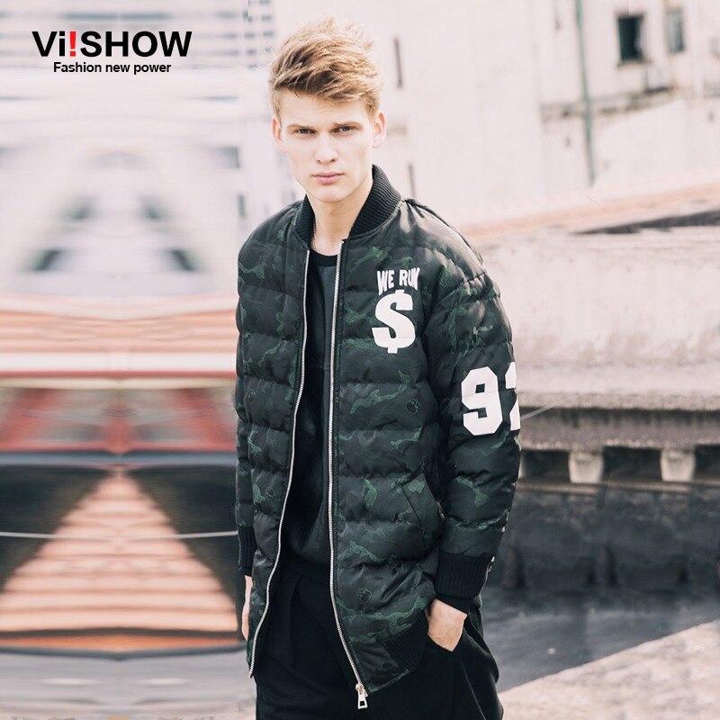 ФОТО VIISHOW Winter Jacket Men Brand Thin Parka Hip Hop Loose Parka Men Camouflage Jacket Oversized Parka Men S-3XL M123854