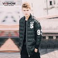 VIISHOW Winter Jacket Men Brand Thin Parka Hip Hop Loose Parka Men Camouflage Jacket Oversized Parka Men S-3XL M123854