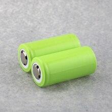 2 UNIDS (1 Par) Batería Recargable 7000 mAh 32650 Li-ion Baterías de Color Verde 3.7 V Batería Recargable Para LED linternas