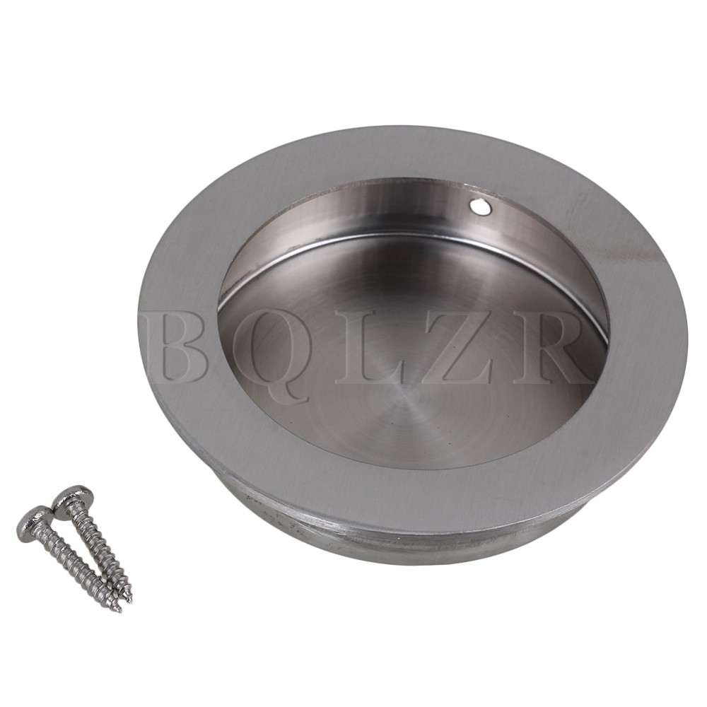 Bqlzr 70mm Od Silver 304 304 Stainless Steel Recessed Knob Handle For For Closet Cabinet