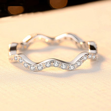 купить Young Girls Sweet Jewelry Finger Ring Real 925 Sterling Silver Cubic Zirconia Shiny Ring Infinity Forever Romantic Gift for Her дешево