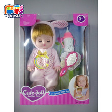 mocai Soft rubber reborn baby doll 4 type close eyes /nurse cry song voice /can take bath /best grade toys for children JHTY071