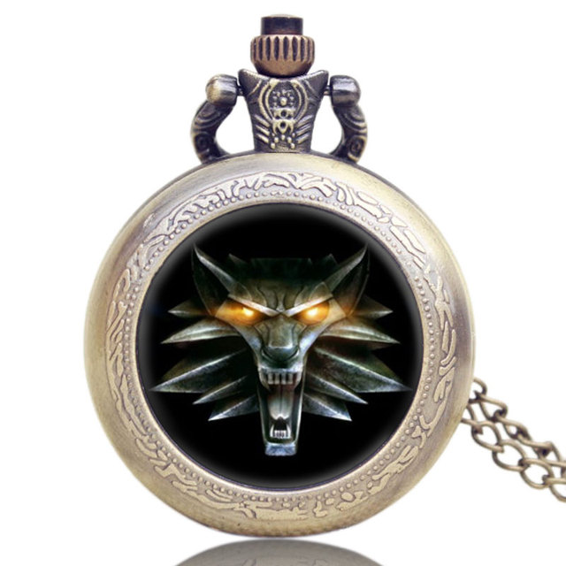 2017 Hot Game Of Thrones Cool  Awesome Roaring Lion Necklace Floating Glass Retro Vintage Quartz Pocket Watch Christmas Gifts